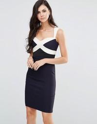 Платье колор блок Vesper - Темно-синий