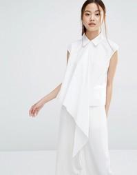 Асимметричная рубашка без рукавов Zacro - Белый