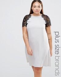 Платье размера плюс с кружевными рукавами Praslin Plus