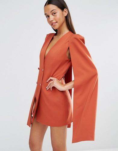 Платье-накидка с разрезом сзади Lavish Alice - Терракотовый