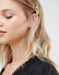 Заколка для волос с кольцом DesignB London - Золотой
