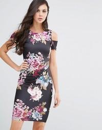 Платье-футляр миди Jessica Wright Avery - Райский цветочный принт