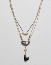 Ярусное ожерелье Pieces Pucca - Золотой