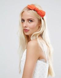 Оранжевый обруч для волос с бантом Johnny Loves Rosie - Оранжевый
