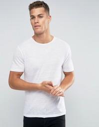 Льняная футболка Jack and Jones Premium - Белый