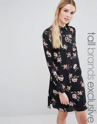 Платье-рубашка с цветочным принтом Fashion Union Tall - Мульти