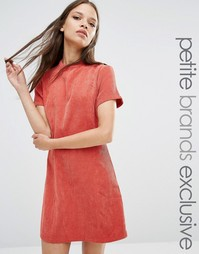 Фактурное платье‑футляр с высоким воротом Fashion Union Petite Kent