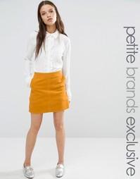 Вельветовая мини‑юбка Fashion Union Petite Aline - Горчичный