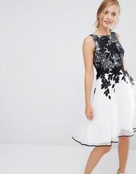 Платье без рукавов Coast Annabel - Черно-белый