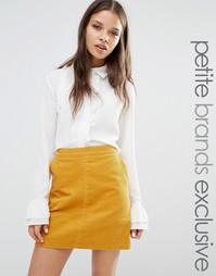 Блузка с рюшами спереди и оборками на манжетах Fashion Union Petite
