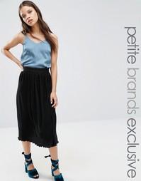 Плиссированная юбка миди Fashion Union Petite Cameron - Черный
