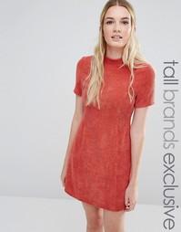 Фактурное платье‑футляр с высокой горловиной Fashion Union Tall
