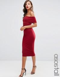 Облегающее платье миди ASOS TALL - Wine