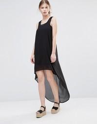Платье с асимметричным краем Noisy May Hannah - Черный