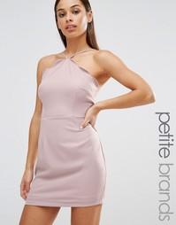 Облегающее платье с фигурной отделкой по краю Missguided Petite