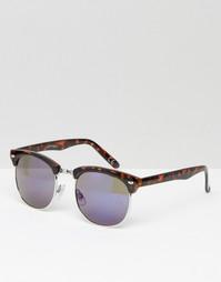 Черепаховые солнцезащитные очки с синими стеклами Jeepers Peepers