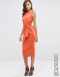 Облегающее платье миди с завязкой сбоку ASOS TALL - Spice