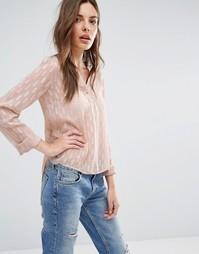 Блузка без воротника с драпированной спинкой Vila - Blush