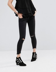 Рваные джинсы скинни Free People - Абсолютно черный