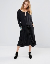 Платье Free People Easy Squeezy - Черный