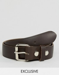 Коричневый кожаный ремень Reclaimed Vintage - Коричневый