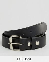 Черный кожаный ремень Reclaimed Vintage - Черный
