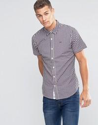 Рубашка из клетчатого поплина с короткими рукавами Tommy Hilfiger Deni