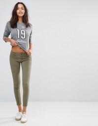Зауженные брюки в стиле милитари Hollister - Зеленый