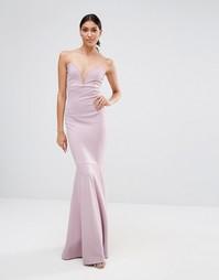 Платье макси бандо Missguided - Сиреневый