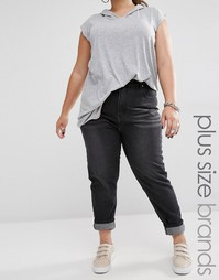 Джинсы в винтажном стиле с высокой талией и отворотами Boohoo Plus