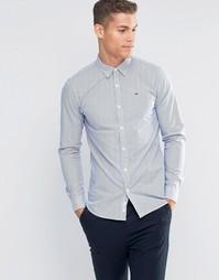 Базовая рубашка из крашеной ткани Tommy Hilfiger Denim - Синий