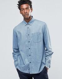 Джинсовая рубашка классического кроя с карманом Celio - Double stone