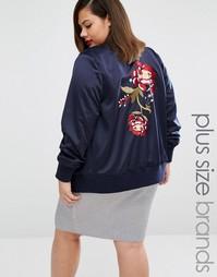 Куртка-пилот в стиле oversize с вышитыми розами Alice & You