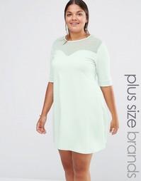 Свободное платье с сетчатыми вставками Pink Clove - Мятный