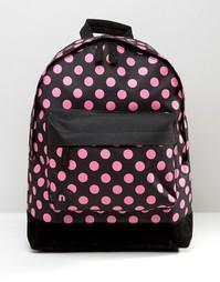 Ярко-розовый рюкзак в горошек Mi-Pac - Черный