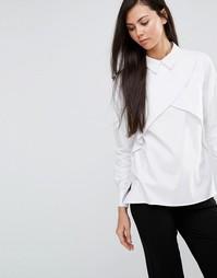 Плиссированная рубашка Finders Keepers Just My Luck - Белый