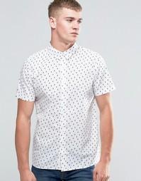 Рубашка с короткими рукавами и принтом кактусы Native Youth - Белый