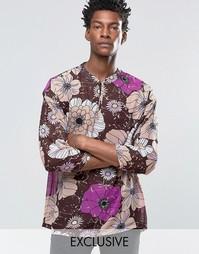 Шифоновая рубашка в стиле 70‑х Reclaimed Vintage - Фиолетовый