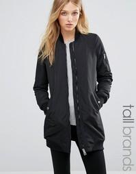 Удлиненная куртка‑пилот в рубчик Vero Moda Tall - Черный
