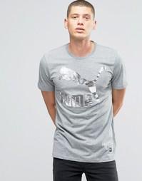 Серая футболка с логотипом металлик Puma Archive 57151338 - Серый