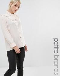 Рубашка с оборкой Vero Moda Petite - Кремовый загар