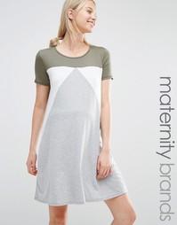 Домашнее платье-футболка для беременных Bluebelle Maternity - Мульти