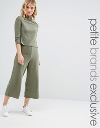 Noisy May Petite Jersey Wide Leg Culottes Co-Ord - Хаки
