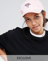 Бейсболка с вышитым фламинго Adolescent Clothing - Розовый