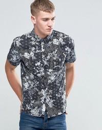 Рубашка с короткими рукавами и цветочным принтом Native Youth - Черный