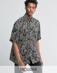 Свободная фестивальная рубашка Reclaimed Vintage - Черный