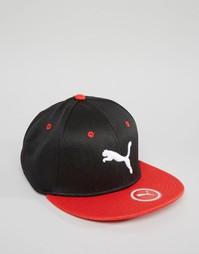Эластичная кепка с плоским козырьком Puma - Черный