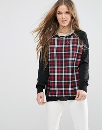 Джемпер QED London - Red knit check