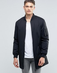 Удлиненная куртка Brave Soul - Черный