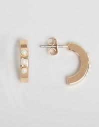 Позолоченные кольцеобразные серьги Nylon - С золотым покрытием